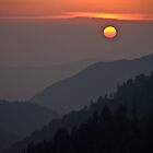 A Smoky Mountain Sunset 7:43pm by thatstickerguy