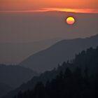 A Smoky Mountain Sunset 7:43pm by Tony  Bazidlo