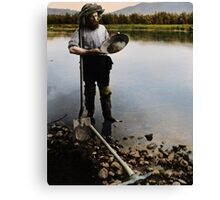 Gold Panner in the Klondike Canvas Print