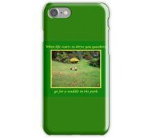 Go for a Waddle iPhone Case/Skin