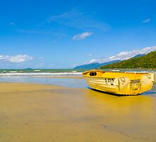 Boat on the sand - Yarrabah - Queensland - Australia by Paul Davis