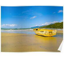 Boat on the sand - Yarrabah - Queensland - Australia Poster