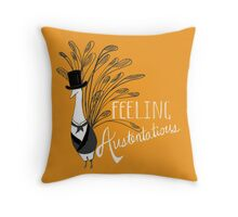 Peacock & Prejudice Throw Pillow