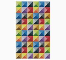 Colorful quarter square triangle pattern Kids Clothes