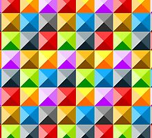 Colorful quarter square triangle pattern by PLdesign