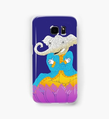 Ganesh on Lotus with Mouse Samsung Galaxy Case/Skin