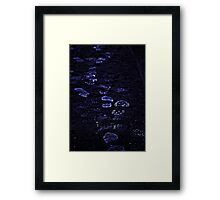 Step into the night Framed Print
