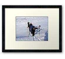 Knee Deep in Snow Framed Print