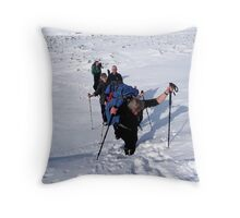 Knee Deep in Snow Throw Pillow