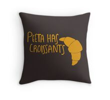 Peeta Has Croissants - Yellow Throw Pillow