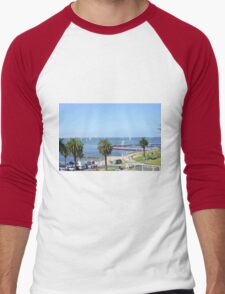 Eastern Beach Geelong Australia. Men's Baseball ¾ T-Shirt