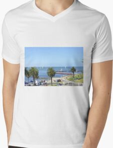 Eastern Beach Geelong Australia. Mens V-Neck T-Shirt