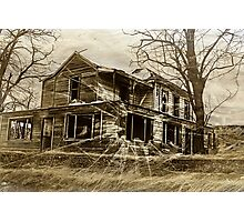 Spooky Old House Photographic Print