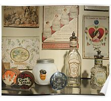 Antique Perfume Bottles Poster