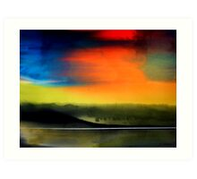 Pearl Shine Turner Landscape Abstract Original Watercolour Painting Art Print