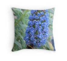 A Buzz In The Blue Throw Pillow