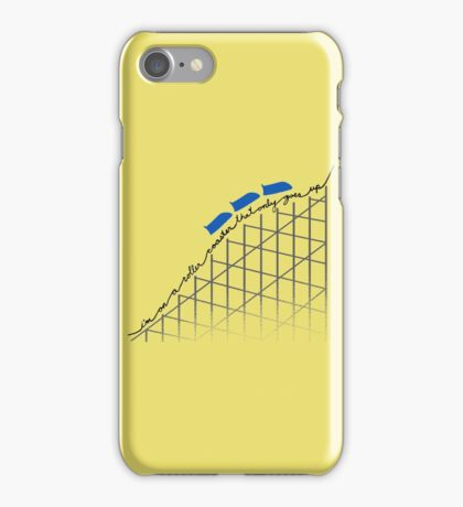 I'm On a Roller Coaster That Only Goes Up (Blue Cars) iPhone Case/Skin