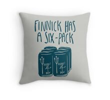Finnick Has a Six-Pack - Light Shirts Throw Pillow