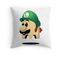 Ghost Luigi Throw Pillow