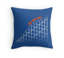 I'm on a roller coaster that only goes up (dark shirts) Throw Pillow