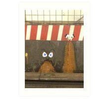 subway barf Art Print