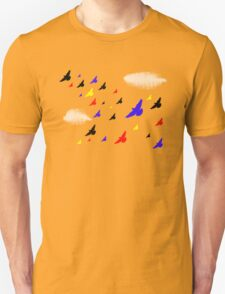 Colored Birds in the Clouds Unisex T-Shirt