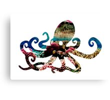 Coral Octopus Canvas Print