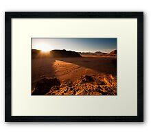 Sunset in Wadi Rum Framed Print