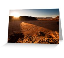 Sunset in Wadi Rum Greeting Card