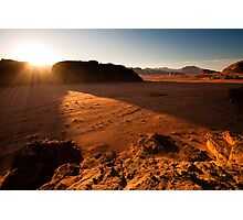 Sunset in Wadi Rum Photographic Print