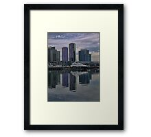 Reflecting at Docklands Framed Print