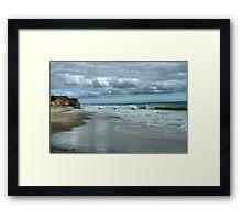 Cliffs at Lucy Vincent Framed Print