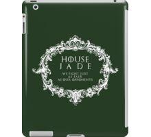 House Jade (white text) iPad Case/Skin