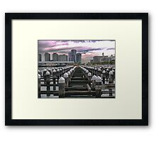 DOF at Docklands Framed Print