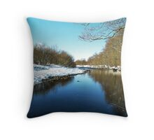 Gentle edged lies the banks of the River Swale Throw Pillow