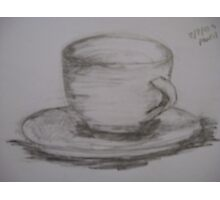 Cup and Saucer (Charcol/Pencil Feb 2009) Photographic Print
