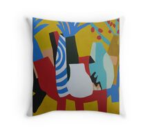 RED TABLE Throw Pillow