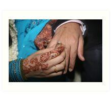 Exchanging Rings Art Print