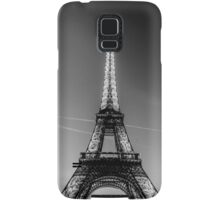 Eiffel Tower and sunset (Black and White) Samsung Galaxy Case/Skin