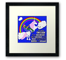 Turkicorn Framed Print