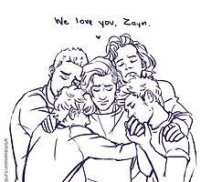 We love You , Zayn- OT5 by artofobsession