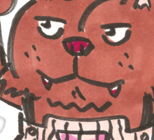 BUTTWOLF Sticker