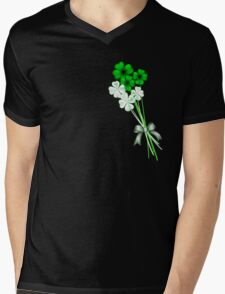 Bunch-A-Shamrocks Mens V-Neck T-Shirt