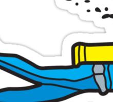 Blue diver Sticker