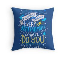 Doctor Who Typography Quote  Throw Pillow