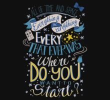 Doctor Who Typography Quote  Kids Clothes