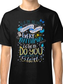 Doctor Who Typography Quote  Classic T-Shirt