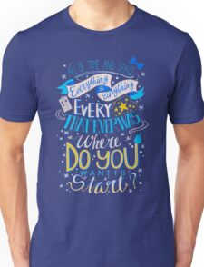 Doctor Who Typography Quote  Unisex T-Shirt