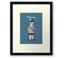 I love sea Framed Print