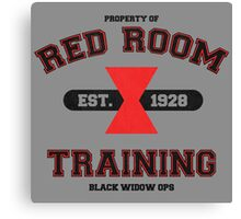 Red Room Training- Black Canvas Print